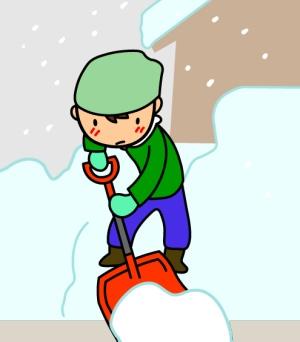 FFストーブ 排気筒 雪に埋まる